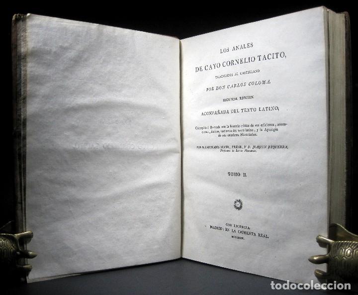 Libros antiguos: Año 1794 Los Anales de Tácito Imprenta Real Historia Antigua Roma Emperadores Cayo Castellano - Foto 15 - 49408753