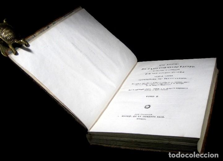 Libros antiguos: Año 1794 Los Anales de Tácito Imprenta Real Historia Antigua Roma Emperadores Cayo Castellano - Foto 33 - 49408753