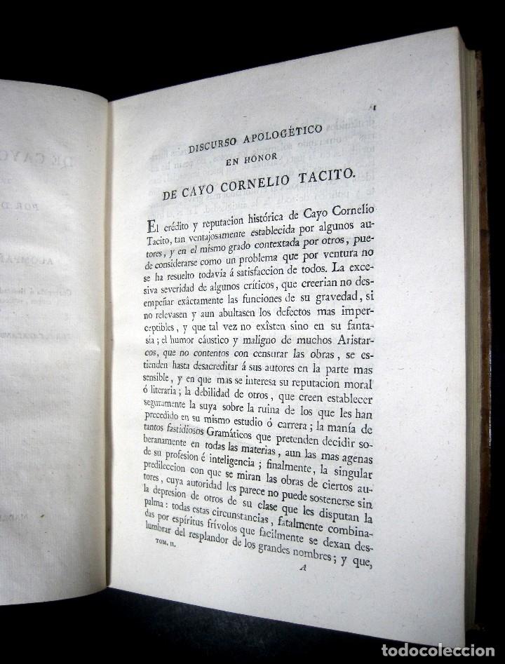 Libros antiguos: Año 1794 Los Anales de Tácito Imprenta Real Historia Antigua Roma Emperadores Cayo Castellano - Foto 19 - 49408753