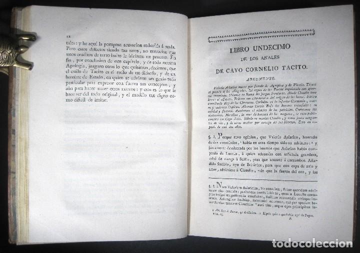 Libros antiguos: Año 1794 Los Anales de Tácito Imprenta Real Historia Antigua Roma Emperadores Cayo Castellano - Foto 20 - 49408753
