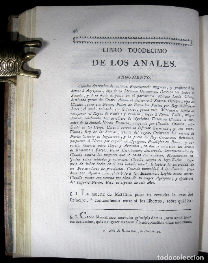 Libros antiguos: Año 1794 Los Anales de Tácito Imprenta Real Historia Antigua Roma Emperadores Cayo Castellano - Foto 21 - 49408753