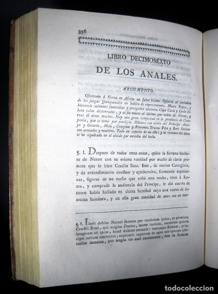 Libros antiguos: Año 1794 Los Anales de Tácito Imprenta Real Historia Antigua Roma Emperadores Cayo Castellano - Foto 22 - 49408753
