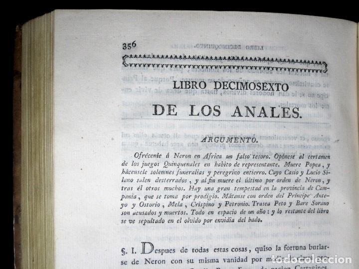 Libros antiguos: Año 1794 Los Anales de Tácito Imprenta Real Historia Antigua Roma Emperadores Cayo Castellano - Foto 26 - 49408753
