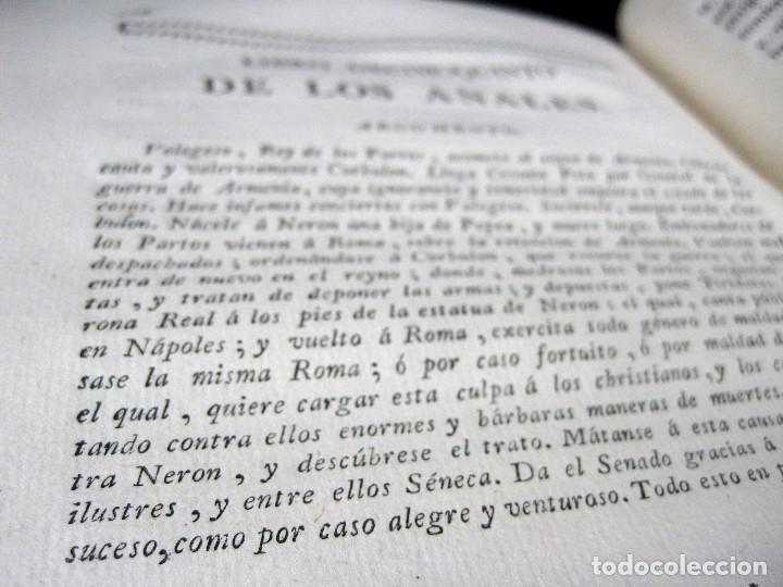 Libros antiguos: Año 1794 Los Anales de Tácito Imprenta Real Historia Antigua Roma Emperadores Cayo Castellano - Foto 29 - 49408753
