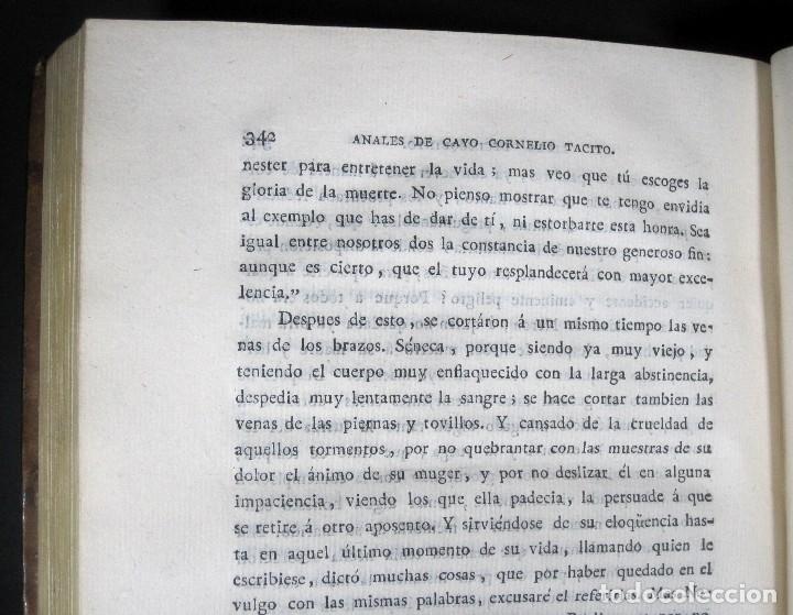 Libros antiguos: Año 1794 Los Anales de Tácito Imprenta Real Historia Antigua Roma Emperadores Cayo Castellano - Foto 30 - 49408753