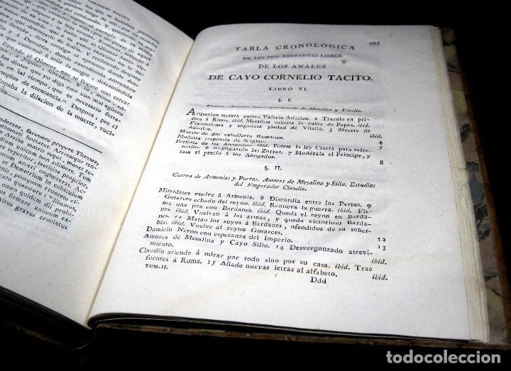 Libros antiguos: Año 1794 Los Anales de Tácito Imprenta Real Historia Antigua Roma Emperadores Cayo Castellano - Foto 31 - 49408753
