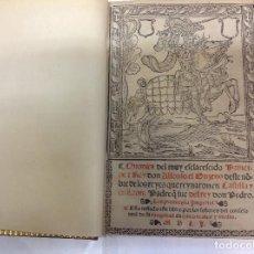 Libros antiguos: CHRONICA DEL MUY ESCLARESCIDO PRINCIPE Y REY DON ALFONSO EL ONZENO. Lote 123596451
