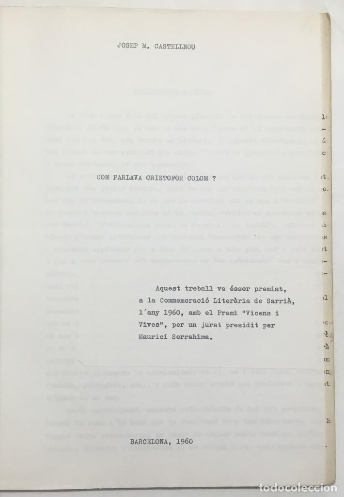 Libros antiguos: COM PARLAVA CRISTÒFOR COLOM? - CASTELLNOU, Josep Maria. - Foto 2 - 123173364