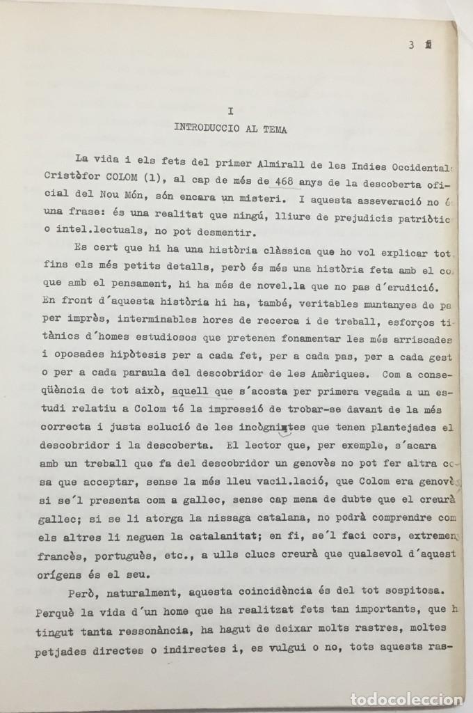Libros antiguos: COM PARLAVA CRISTÒFOR COLOM? - CASTELLNOU, Josep Maria. - Foto 3 - 123173364