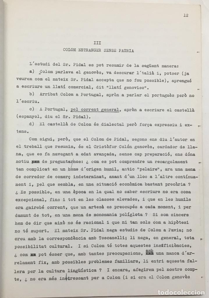 Libros antiguos: COM PARLAVA CRISTÒFOR COLOM? - CASTELLNOU, Josep Maria. - Foto 4 - 123173364