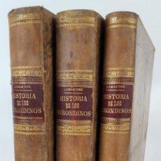 Libros antiguos: HISTORIA DE LOS GIRONDINOS. 3 TOMOS. A. DE LAMARTINE. MADRID. 1877.. Lote 124489239