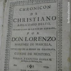 Libros antiguos: 1679. CHRONICON DE CHRISTIANO ADRICOMIO DELFO.. Lote 124660767