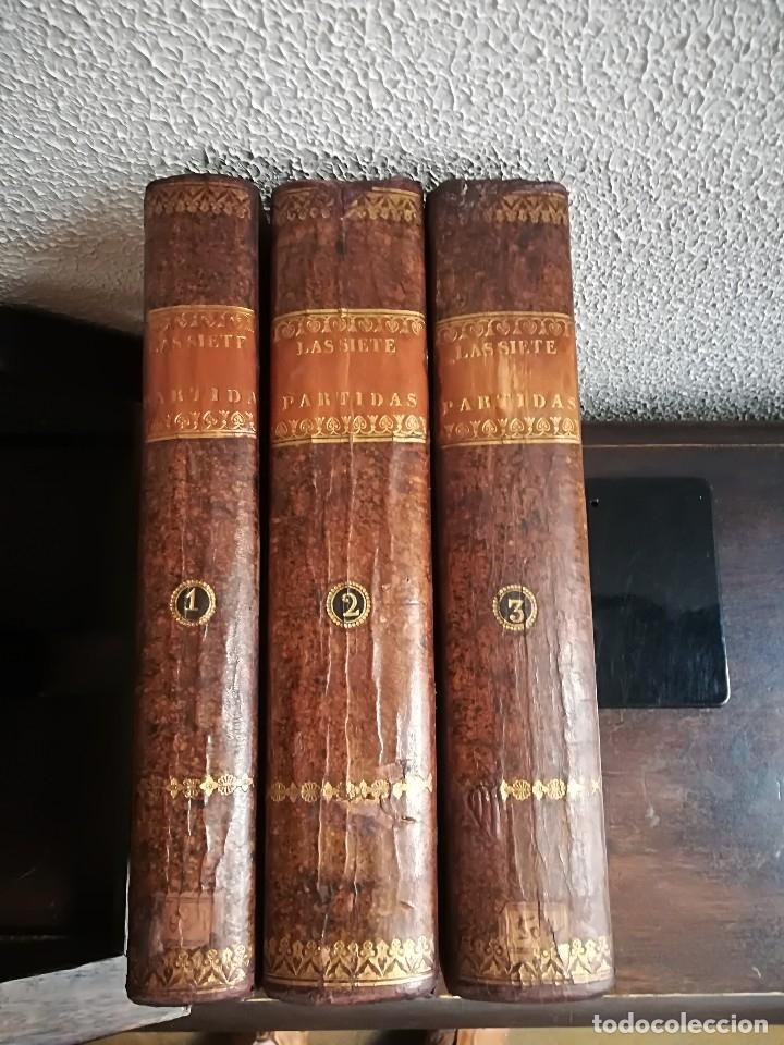 Libros antiguos: Las Siete Partidas del Rey don Alfonso el Sabio, cotejadas con varios códices antiguos por la Real A - Foto 3 - 116940947