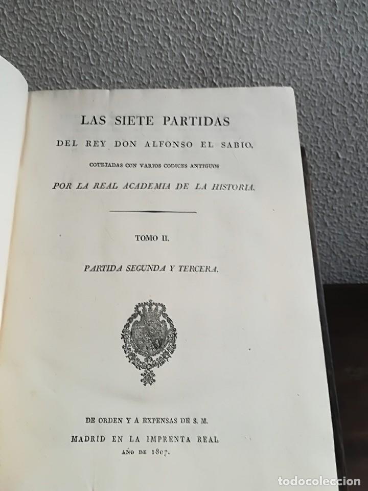 Libros antiguos: Las Siete Partidas del Rey don Alfonso el Sabio, cotejadas con varios códices antiguos por la Real A - Foto 5 - 116940947