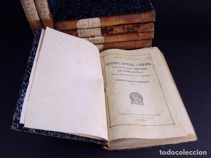 Libros antiguos: HISTORIA GENERAL DE ESPAÑA, ANTONIO DE CARCER DE MONTALBAN, 8 TOMOS - Foto 4 - 125090227