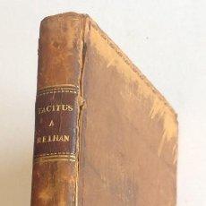 Libros antiguos: AÑO 1829 * HISTORIADOR TACITO * COSTUMBRES DE ALEMANIA + VIDA DE CNEO JULIO AGRICOLA * 2 MAPAS. Lote 125215899