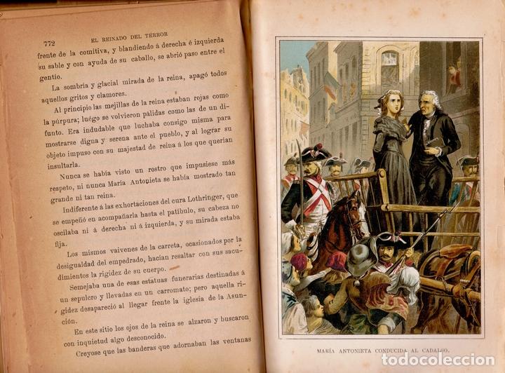 Libros antiguos: EL REINADO DEL TERROR, HISTORIA DRAMÁTICA REVOLUCIÓN FRANCESA (2 VOL) LÁMINAS CROMO 1892. 1ª EDICIÓN - Foto 5 - 126023639