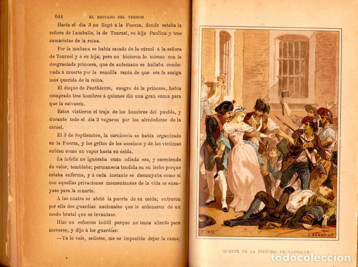 Libros antiguos: EL REINADO DEL TERROR, HISTORIA DRAMÁTICA REVOLUCIÓN FRANCESA (2 VOL) LÁMINAS CROMO 1892. 1ª EDICIÓN - Foto 4 - 126023639