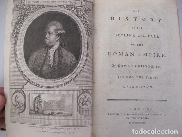 Libros antiguos: The history of the decline and fall of the Roman Empire. By Edward Gibbon, London, 1783 - Foto 2 - 126370443