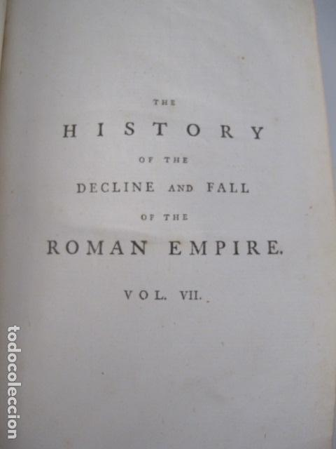 Libros antiguos: The history of the decline and fall of the Roman Empire. By Edward Gibbon, London, 1783 - Foto 11 - 126370443