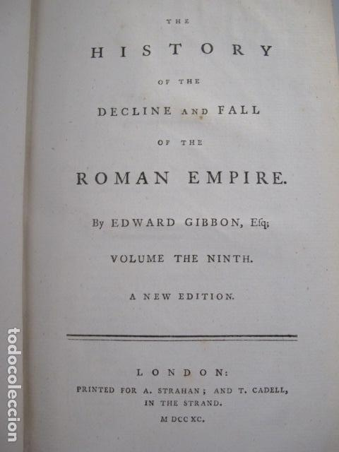 Libros antiguos: The history of the decline and fall of the Roman Empire. By Edward Gibbon, London, 1783 - Foto 14 - 126370443