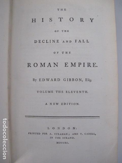 Libros antiguos: The history of the decline and fall of the Roman Empire. By Edward Gibbon, London, 1783 - Foto 16 - 126370443