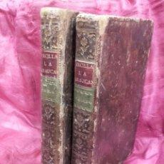 Libros antiguos: LA ARAUCANA DE ALONSO DE ERCILLA, 1776. 2 TOMOS EN PIEL, GRABADOS Y MAPA. VER FOTOS.. Lote 126712962