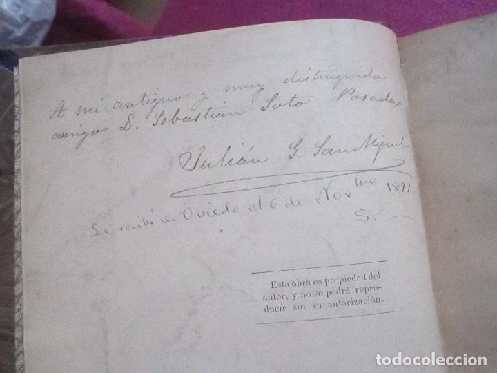 Libros antiguos: NOTICIAS HISTORICAS DE AVILES GARCIA SAN MIGUEL FIRMADO Y DEDICADO POR EL AUTOR 1897 1ª EDICION - Foto 3 - 127591891