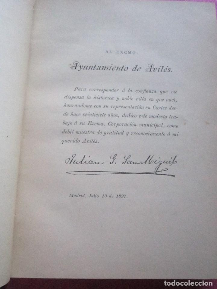 Libros antiguos: NOTICIAS HISTORICAS DE AVILES GARCIA SAN MIGUEL FIRMADO Y DEDICADO POR EL AUTOR 1897 1ª EDICION - Foto 8 - 127591891