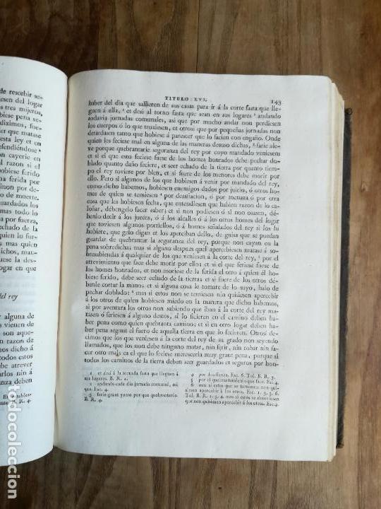 Libros antiguos: Las Siete Partidas del Rey don Alfonso el Sabio, cotejadas con varios códices antiguos por la Real A - Foto 13 - 116940947