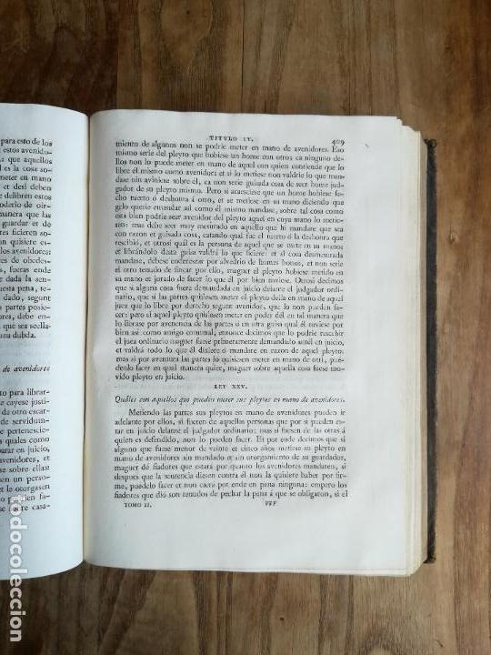 Libros antiguos: Las Siete Partidas del Rey don Alfonso el Sabio, cotejadas con varios códices antiguos por la Real A - Foto 14 - 116940947