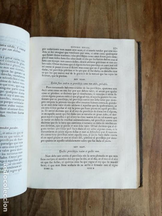 Libros antiguos: Las Siete Partidas del Rey don Alfonso el Sabio, cotejadas con varios códices antiguos por la Real A - Foto 15 - 116940947