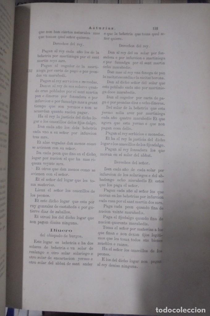 Libros antiguos: Las Behetrías de Castilla,Espectacular Facsímil,1865,Chancillería de Valladolid,Santander - Foto 6 - 57095494