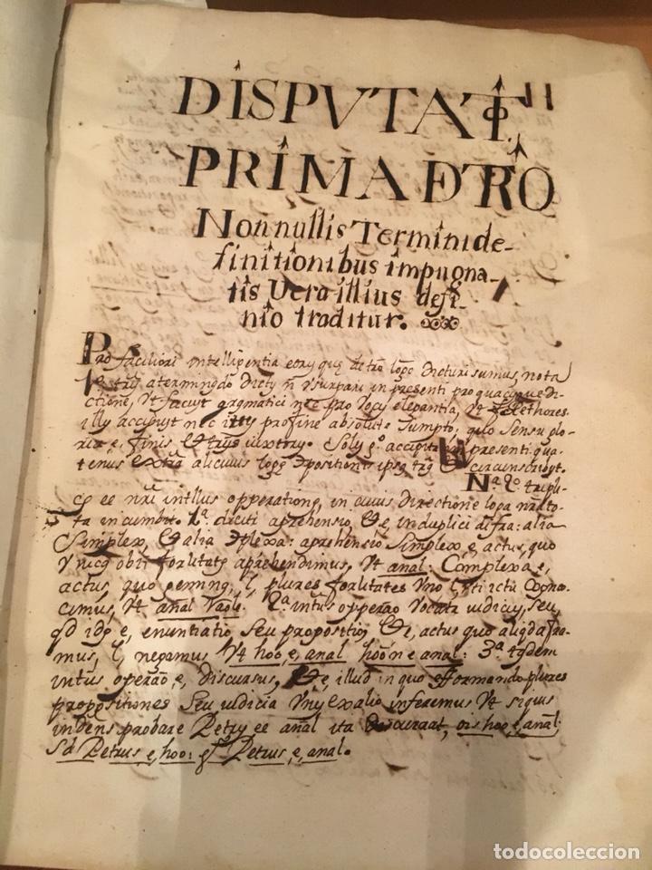 LIBRO DE PERGAMINO MANUSCRITO CON DOS ESCUDOS HERÁLDICOS PINTADOS , OBRA DE ARISTÓTELES DE LOGIA (Libros antiguos (hasta 1936), raros y curiosos - Historia Antigua)