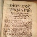 Libros antiguos: LIBRO DE PERFAMINO MANUSCRITO CON DOS ESCUDOS HERÁLDICOS PINTADOS , OBRA DE ARISTÓTELES DE LOGIA. Lote 129971236