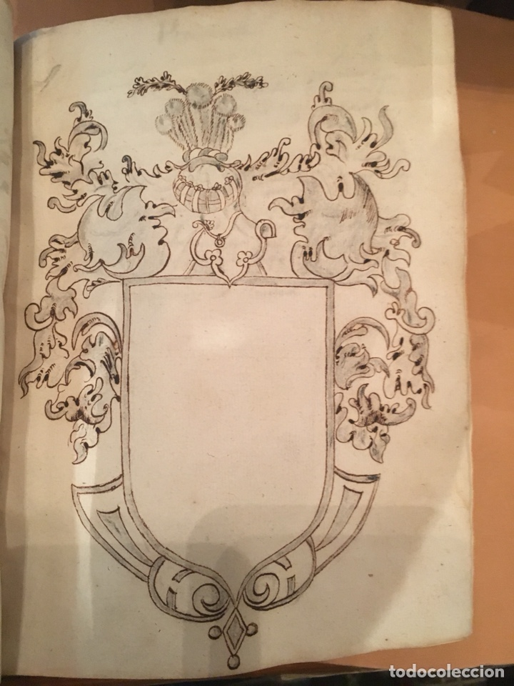 Libros antiguos: LIBRO DE PERGAMINO MANUSCRITO CON DOS ESCUDOS HERÁLDICOS PINTADOS , OBRA DE ARISTÓTELES DE LOGIA - Foto 3 - 129971236