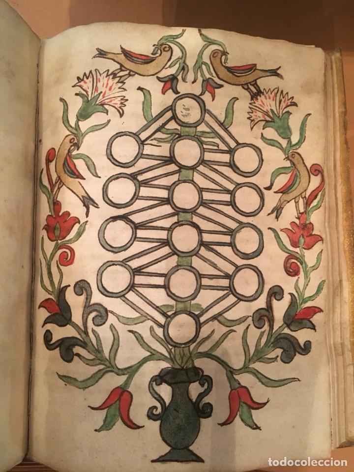 Libros antiguos: LIBRO DE PERGAMINO MANUSCRITO CON DOS ESCUDOS HERÁLDICOS PINTADOS , OBRA DE ARISTÓTELES DE LOGIA - Foto 8 - 129971236
