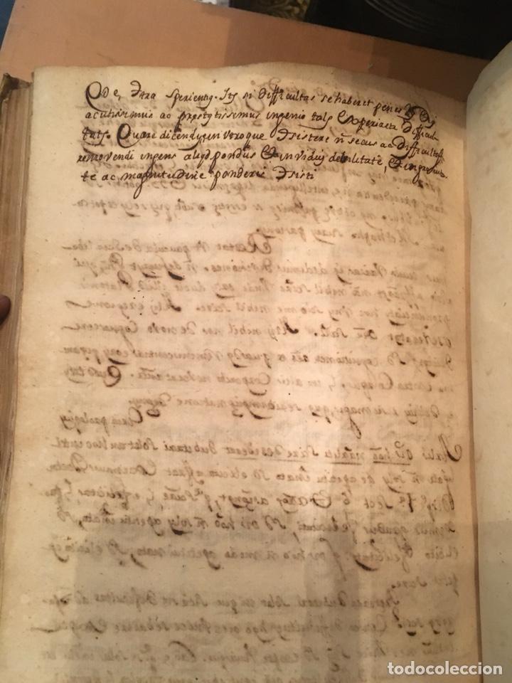 Libros antiguos: LIBRO DE PERGAMINO MANUSCRITO CON DOS ESCUDOS HERÁLDICOS PINTADOS , OBRA DE ARISTÓTELES DE LOGIA - Foto 9 - 129971236