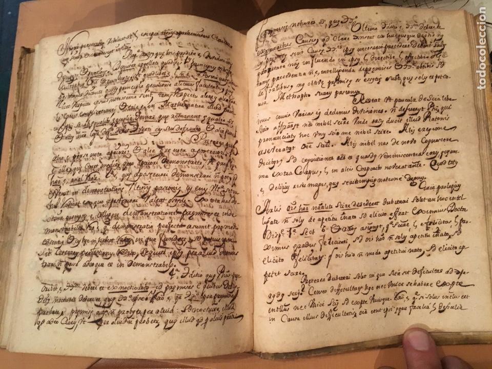 Libros antiguos: LIBRO DE PERGAMINO MANUSCRITO CON DOS ESCUDOS HERÁLDICOS PINTADOS , OBRA DE ARISTÓTELES DE LOGIA - Foto 10 - 129971236