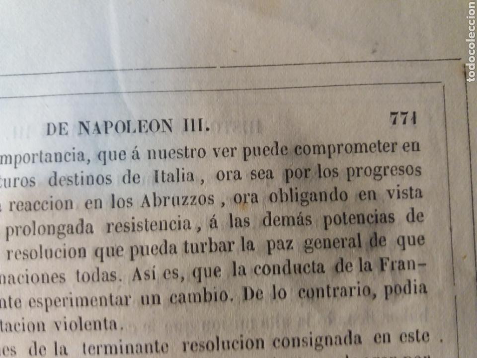 Libros antiguos: Los tres Napoleones 1860 n 2 - Foto 9 - 130198614