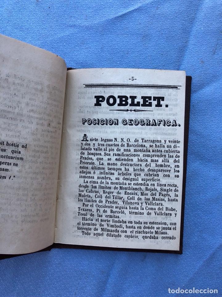 Libros antiguos: Libro Poblet 1870 Ex Libres - Foto 4 - 130896403