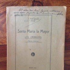 Libros antiguos: HISTORIA DE IBIZA APUNTES HISTÓRICOS LOS CRONISTAS SANTA MARIA LA MAYOR IBIZA 1916 PRIMERA EDICIÓN. Lote 132263202