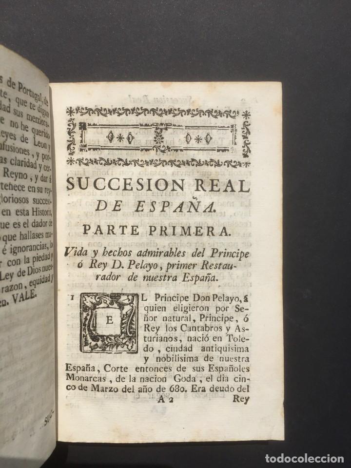Libros antiguos: 1775 Sucesion real de España - Historia de España - Don Pelayo - Reconquista - Cid Campeador - Foto 5 - 132479898
