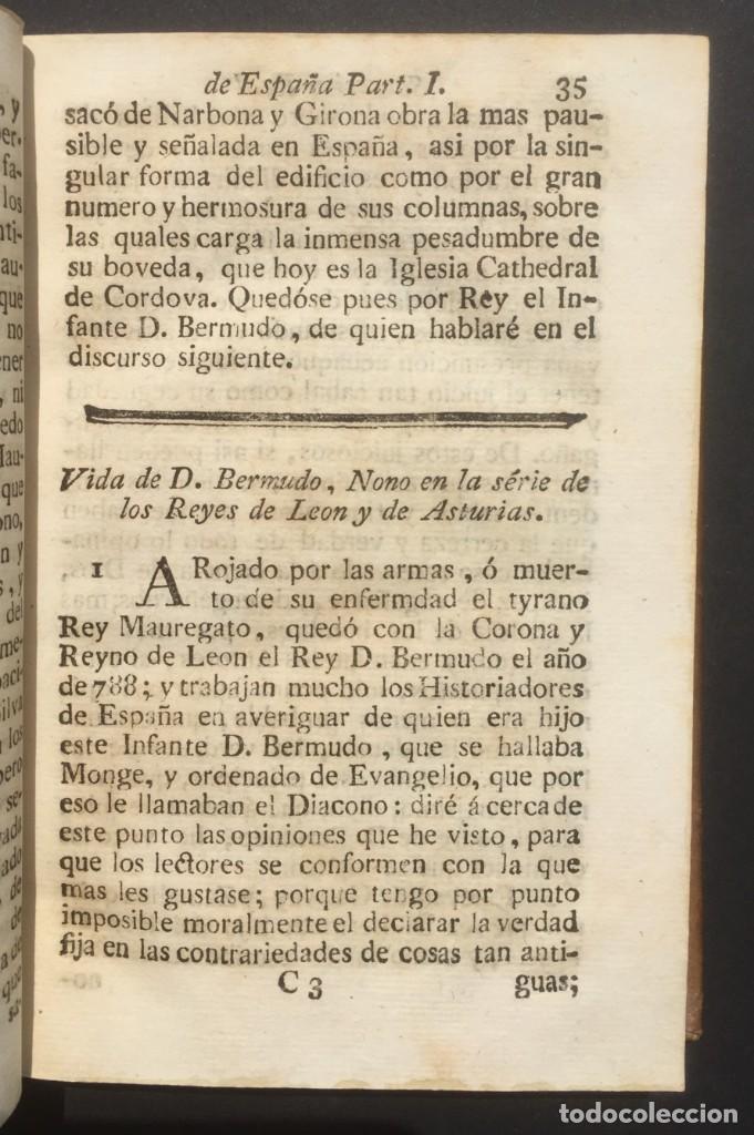 Libros antiguos: 1775 Sucesion real de España - Historia de España - Don Pelayo - Reconquista - Cid Campeador - Foto 6 - 132479898