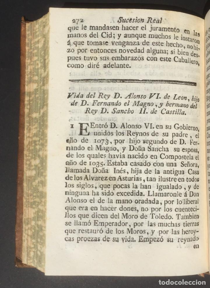 Libros antiguos: 1775 Sucesion real de España - Historia de España - Don Pelayo - Reconquista - Cid Campeador - Foto 11 - 132479898