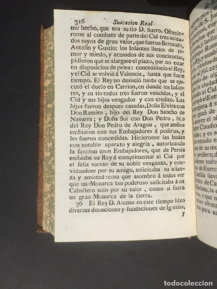 Libros antiguos: 1775 Sucesion real de España - Historia de España - Don Pelayo - Reconquista - Cid Campeador - Foto 12 - 132479898