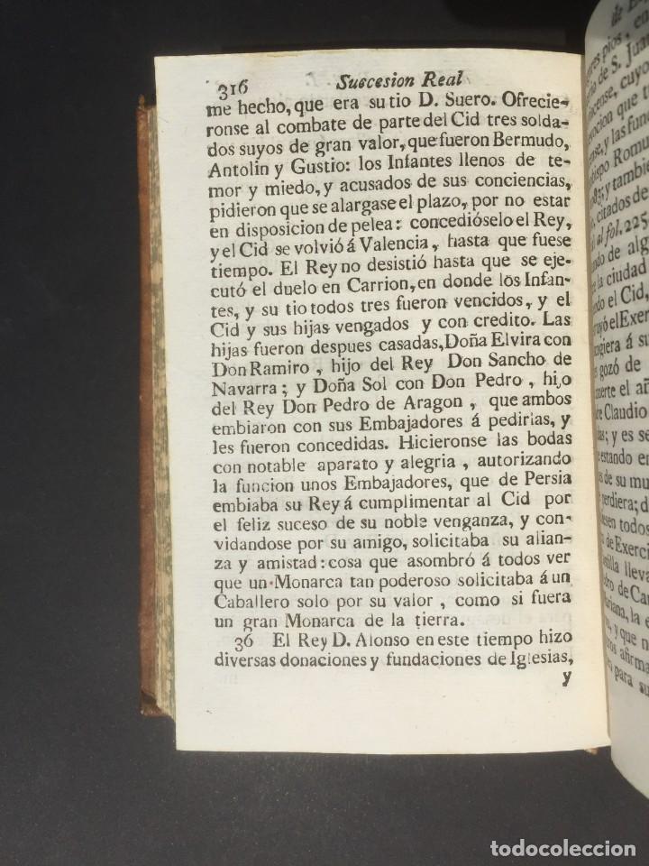 Libros antiguos: 1775 Sucesion real de España - Historia de España - Don Pelayo - Reconquista - Cid Campeador - Foto 13 - 132479898