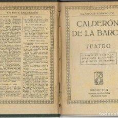 Libros antiguos: TEATRO DE PEDRO CALDERÓN DE LA BARCA. AÑO ¿? (13.6). Lote 132481406