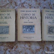 Libros antiguos: COLECCION CURSO DE HISTORIA. 3 TOMOS. PEDRO AGUADO. AÑO 1934-1935-1936.ENVIO CERTIFICADO 6 EUROS.. Lote 132913170