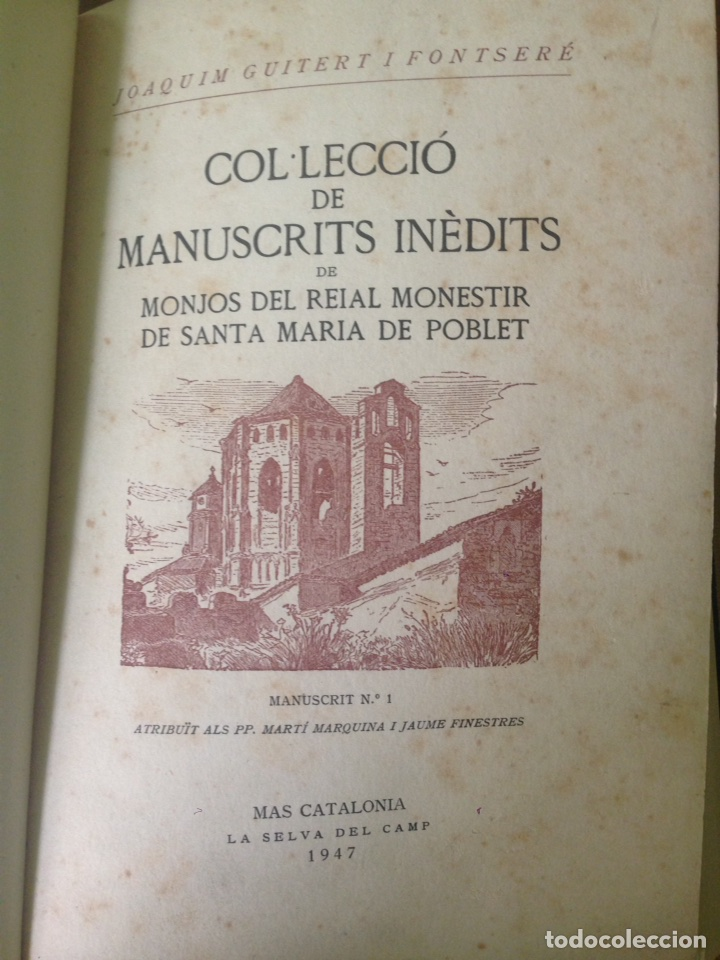 MANUSCRITOS DE POBLET (Libros antiguos (hasta 1936), raros y curiosos - Historia Antigua)
